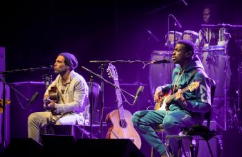 An Evening with Seu Jorge and Rogê Seu Jorge and Roge performing at The UC Theatre