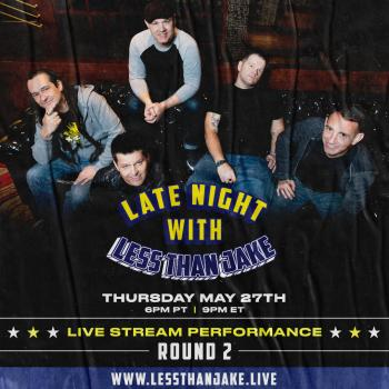 Late Night with Less Than Jake Livestream Flyer for livestream less than jake