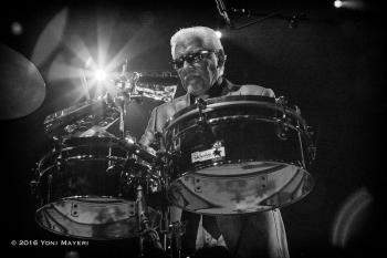 Pete Escovedo ft. Juan and Peter Michael Escovedo Pete Escovedo performing at The UC Theatre